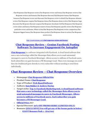 Chat Response review-SECRETS of Chat Response and $16800 BONUS