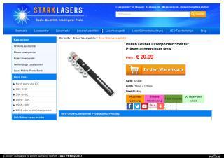 Hellen Grüner Laserpointer 5mw für Präsentationen laser 5mw
