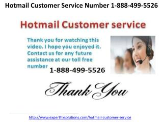 Hotmail Customer Service Number 1-888-499-5526