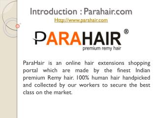 Buy Best Human Hair Extensions from Parahair.com