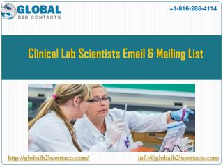 Clinical lab scientists Email & Mailing List