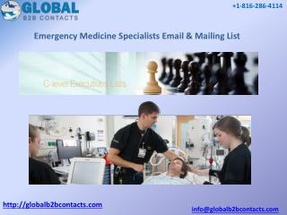 Emergency medicine specialists Email & Mailing List