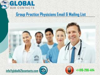 Group practice physicians Email & Mailing List