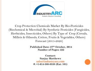 Rising Pressure to Improve Yield across regions Driving the Crop Protection Chemicals Market.