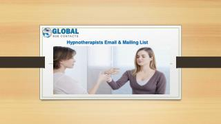 Hypnotherapists Email & Mailing List