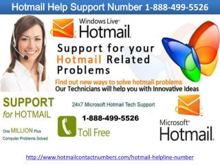 Hotmail Help Support Number 1-888-499-5526