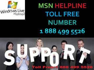 MSN Support Number (1-888-499-5526) || MSN Tech Support Number