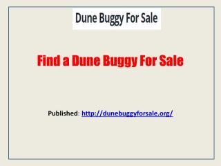 Finding The Best Dune Buggy