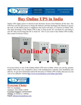Buy Online UPS in India