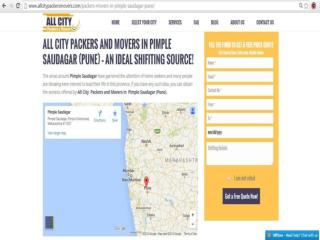 Packers & Movers in Pimple Saudagar(Pune) - All City Packers &Movers®