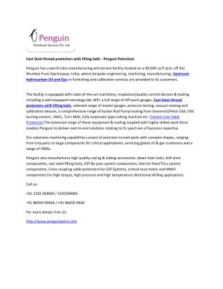 Penguin Petroleum - Deep hole Drilling and Honing Solutions