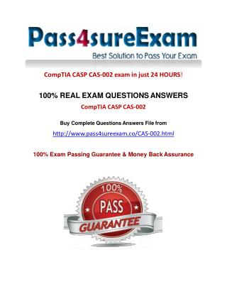Pass4sure CAS-002 Question