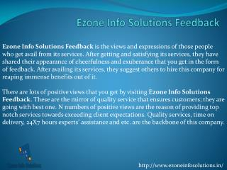 Ezone Info Solutions Feedback