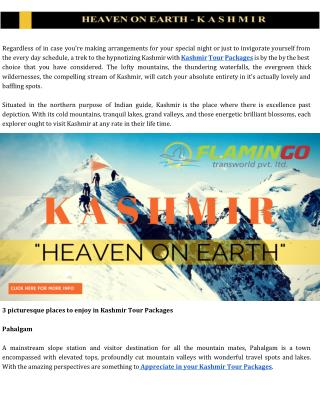 Enjoy Breathtaking valleys and adventures in Kashmir Tour | Flamingo Travels
