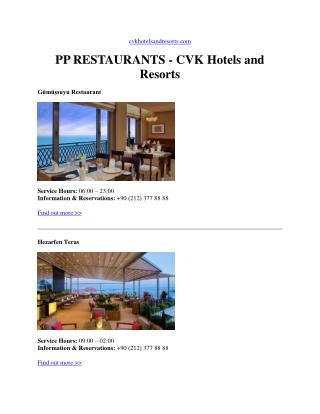 Park prestige restaurants