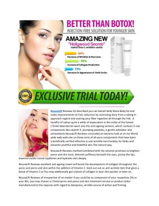 Nouvalift - Get  Youthful and Smooth Skin