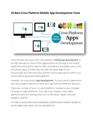 10 Best Cross Platform Mobile App Development Tools