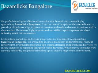 Bazarclicks Bangalore