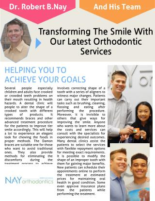Transforming The Smile With Our Orthodontic Services