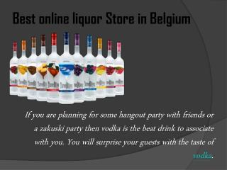 Buy online liquor in Belgium