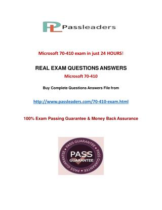 Passleader 70-410 Q&A