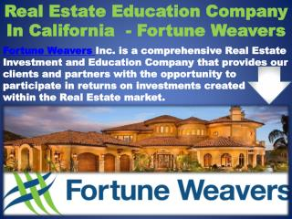 Real Estate Education Company In California