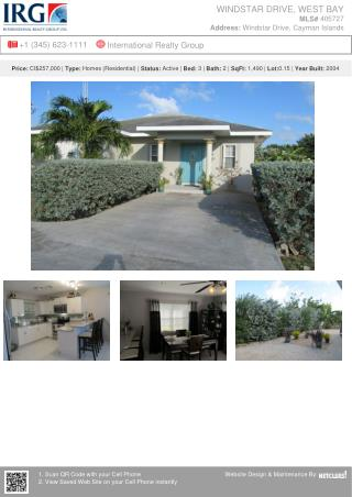 Cayman Residential Real Estate Property WINDSTAR DRIVE For Sale in Grand Cayman Islands
