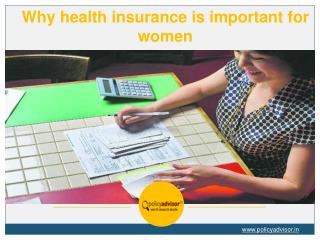 Why health insurance is important for women