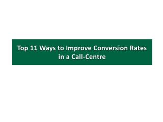 11 Ways to Improve Your Conversion Rates using Customer Service