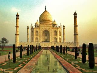 Taj Mahal is an ivory-white marble