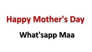Mothers Day Short Film What'sapp Maa