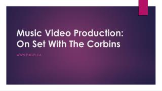 Music Video Production On Set With The Corbins