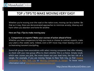 7 Tips to Make Hassle-Free Moving in 2016