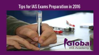 Tips for IAS Exams Preparation in 2016