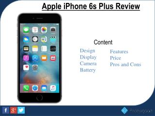 Apple iphone 6s Plus- Latest Price and Full specifications