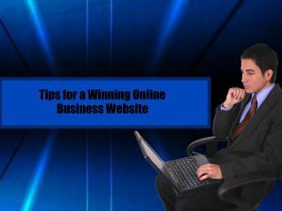 Tips for a Winning Online Business Website