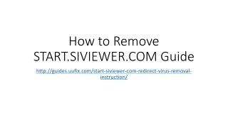 How to remove start.siviewer.com guide
