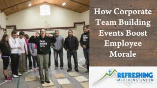 How Corporate Team Building Events Boost Employee Morale