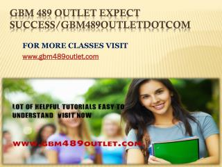GBM 489 OUTLET Expect Success/gbm489outletdotcom