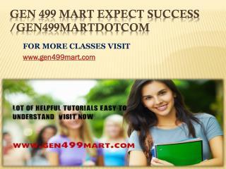 GEN 499 MART Expect Success/gen499martdotcom