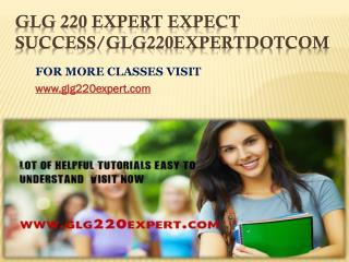 GLG 220 EXPERT Expect Success/glg220expertdotcom
