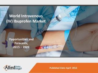 IV Ibuprofen Market  Size, Analysis & Forecast 2015 - 2022