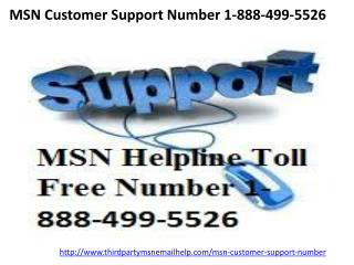 MSN Customer Support Number 1-888-499-5526