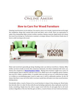 Cleaning wood furniture can be dubious