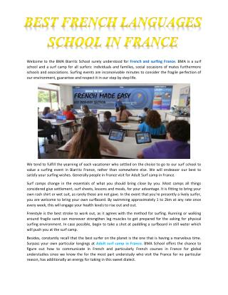 Best French Languages School in France