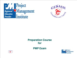 Preparation Course for PMP Exam
