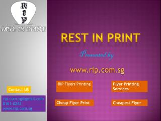 Best Flyer Printing & Distribution Service In Singapore