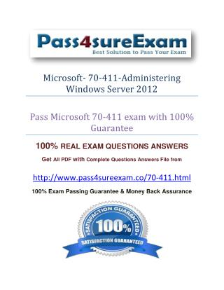 Pass4sure 70-411 Exam Dumps