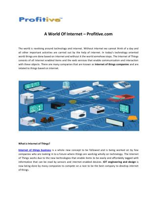 Internet of Things Companies - Profitive
