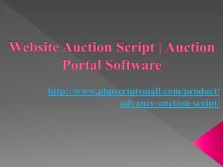 Website Auction Script | Auction Portal Software